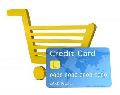 Bargeldlos zahlen beim Einkauf per Kreditkarte